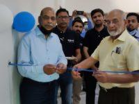 Imtiaz Rastgar Chairman Rastgar Group, Dr. Arshad Ali CEO Asian Institute of Industrial Air while Inaugurating Sakoon Pneumatics Wah Office